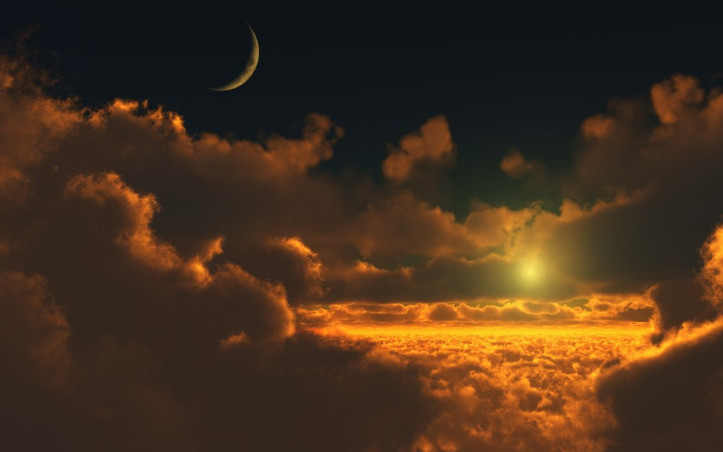 clouds-moon-sun